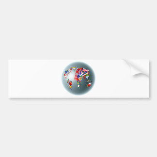 Flag Globe Bumper Sticker