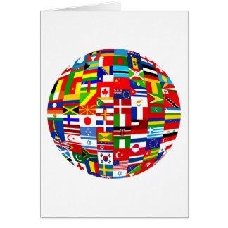 Flag Globe Card