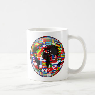 Flag Globe Coffee Mug