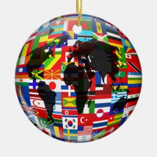 Flag Globe Christmas Ornament