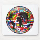 Flag Globe Mouse Mats