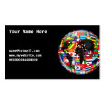 Flag Globe, Your Name Here, Pack Of Standard Business Cards