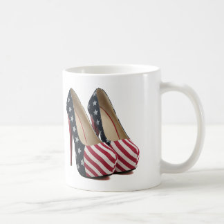 FLAG HIGH HEEL SHOES COFFEE MUG
