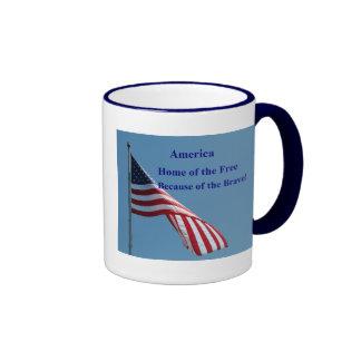 Flag, Home of the Free! Coffee Mugs