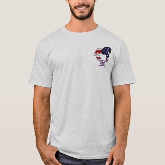 Flag horse1, Blue logo T-Shirt