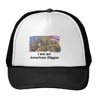 Flag I am an American Digger Cap