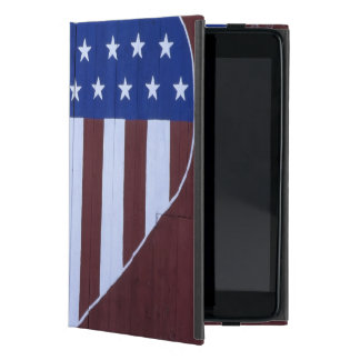 Flag in heart shape painted on barn after 9-11. covers for iPad mini