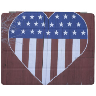 Flag in heart shape painted on barn after 9-11. iPad cover