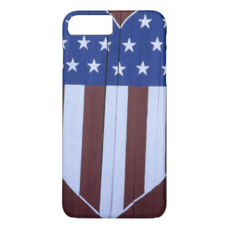Flag in heart shape painted on barn after 9-11. iPhone 8 plus/7 plus case