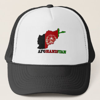Flag in Map of Afghanistan Trucker Hat