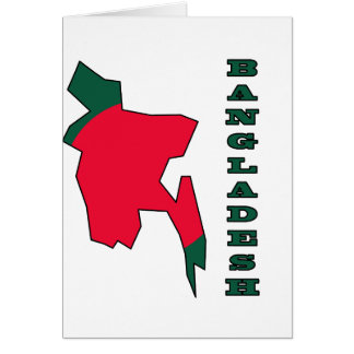Flag in Map of Bangladesh Greeting Card