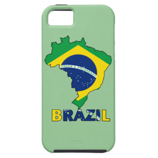 Flag in Map of Brazil iPhone 5 Cases