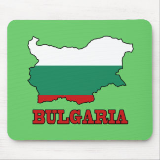 Flag in Map of Bulgaria Mouse Pad