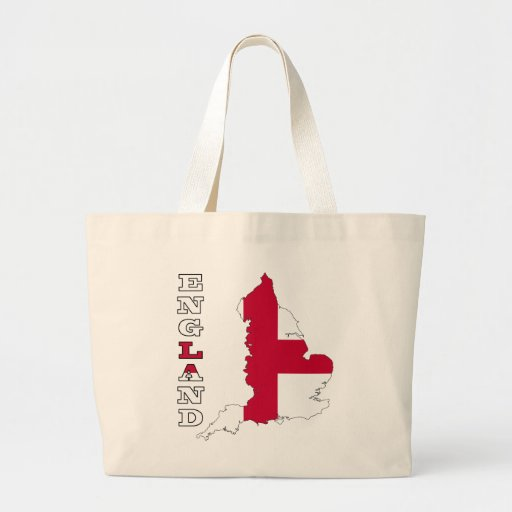 Flag in Map of England Canvas Bag