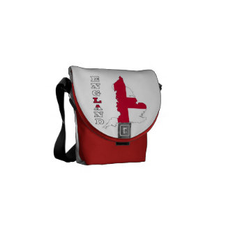 Flag in Map of England Courier Bags