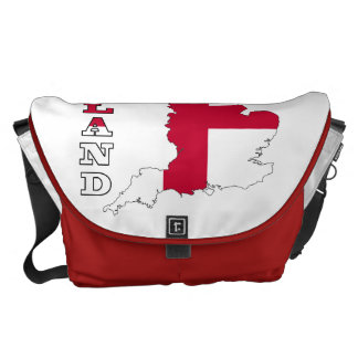 Flag in Map of England Messenger Bags
