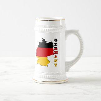 Flag in Map of Germany Beer Steins