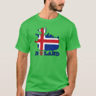 Flag in Map of Iceland T-Shirt
