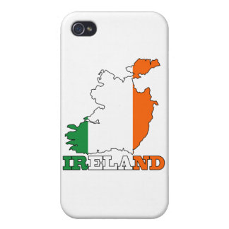 Flag in Map of Ireland iPhone 4 Case