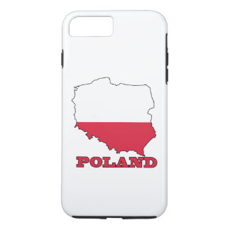 Flag in Map of Poland iPhone 7 Plus Case