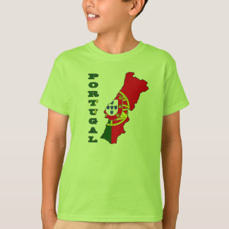 Flag in Map of Portugal T-Shirt