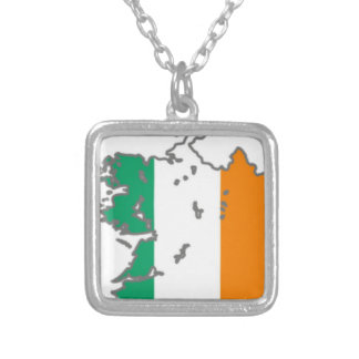 Flag Irish  Lucky Map Country Banner Colors Custom Jewelry