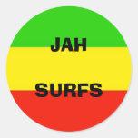 flag, JAHSURFS Classic Round Sticker