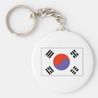 Flag Korea Basic Round Button Key Ring