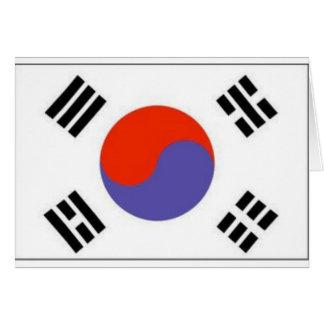Flag Korea Greeting Card