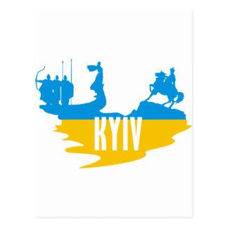 Flag Kyiv Postcard