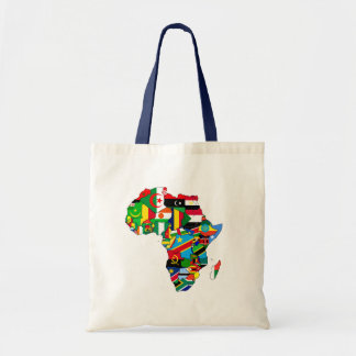Flag Map of Africa Flags - African Culture Gift Budget Tote Bag