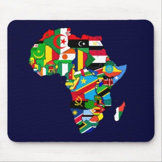 Flag Map of Africa Flags - African Culture Gift Mouse Mat