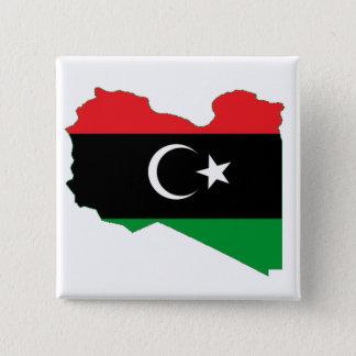 Flag-map of Kingdom of Libya 15 Cm Square Badge