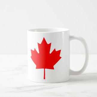 Flag maple leaf basic white mug
