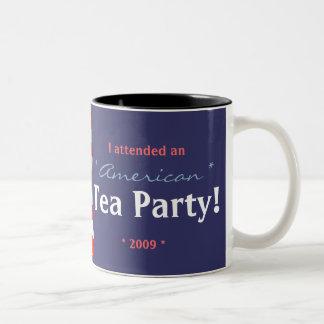 flag, mug, I attended an American Tea Party! Two-Tone Mug