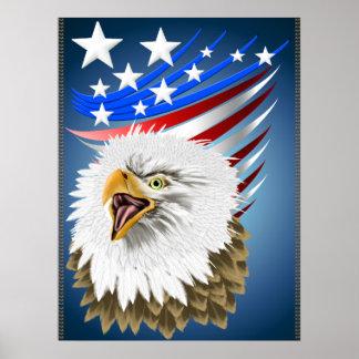 Flag N Eagle Print
