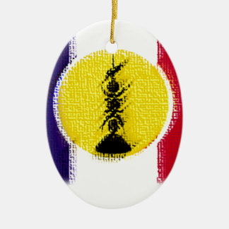 flag ncl FRA KNK Christmas Ornament