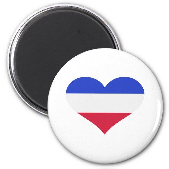 Flag netherlands 6 cm round magnet
