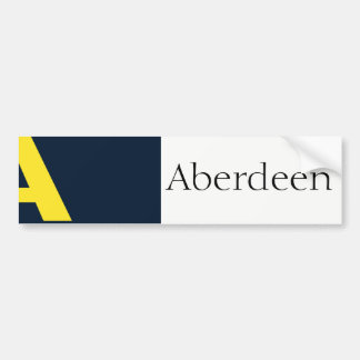 Flag of Aberdeen, Washington bumper sticker