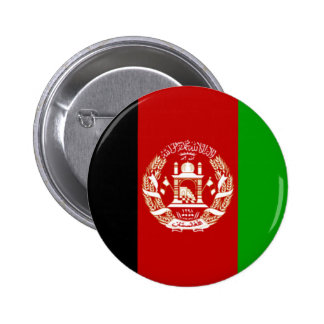 Flag of Afghanistan 6 Cm Round Badge