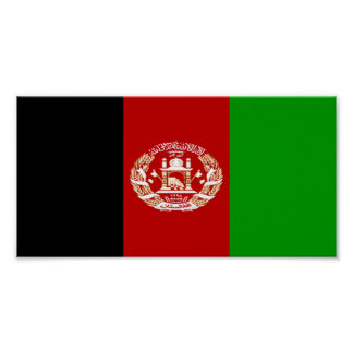 Flag of Afghanistan Poster