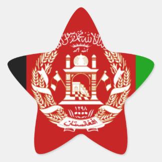 Flag of Afghanistan Star Sticker