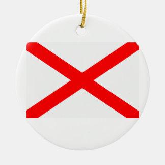 Flag of Alabama Christmas Ornament