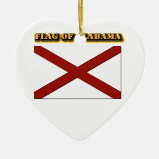 Flag of Alabama Christmas Ornament