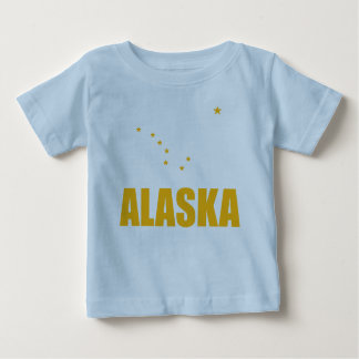 Flag Of Alaska Big Dipper Yellow Text Baby T-Shirt