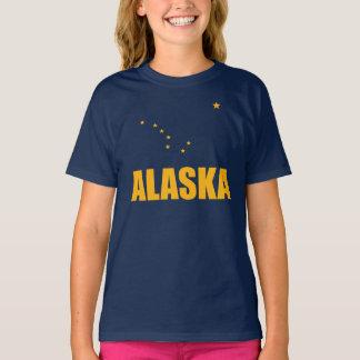 Flag Of Alaska Big Dipper Yellow Text Tees