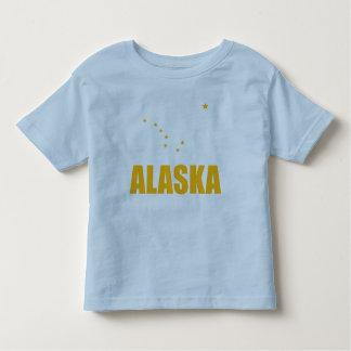 Flag Of Alaska Big Dipper Yellow Text Tee Shirts