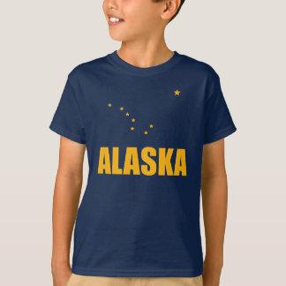 Flag Of Alaska Big Dipper Yellow Text Tshirt