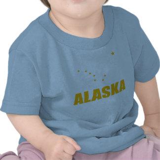 Flag Of Alaska Big Dipper Yellow Text Tshirts