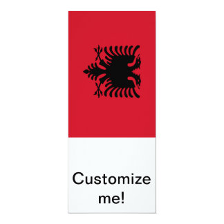 Flag of Albania 10 Cm X 24 Cm Invitation Card